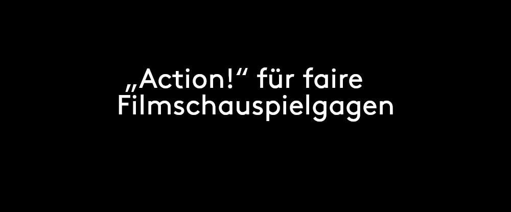 """ZFF Talks: Kein Glamour in der Lohntüte: """"Action!"""" für faire Filmschauspielgagen"""