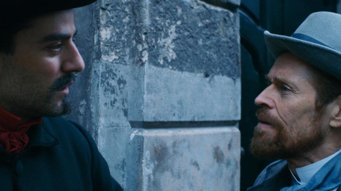 Oscar Isaac und Willem Dafoe in AT ETERNITY'S GATE