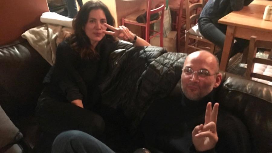 Christina Kerber und Alexander Nanau am Empfang von Swiss Films