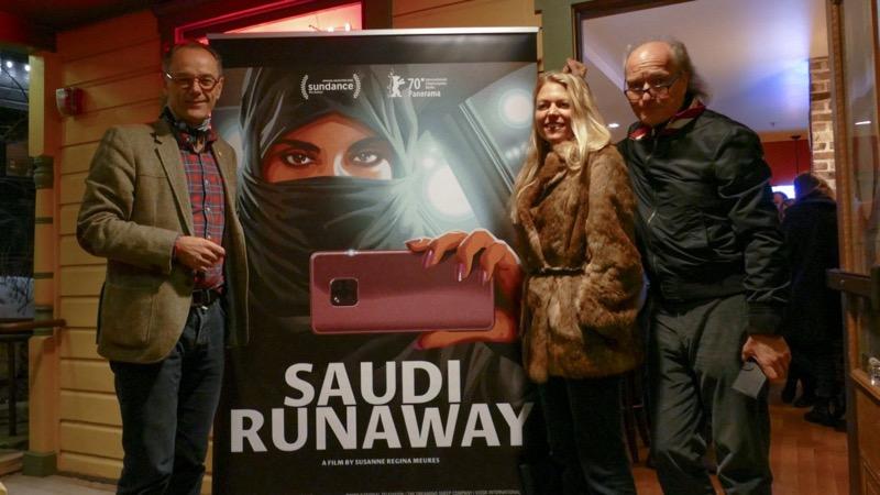 Benedikt Wechsler, Susanne Regina Meures und Christian Frei am Empfang von Swiss Films