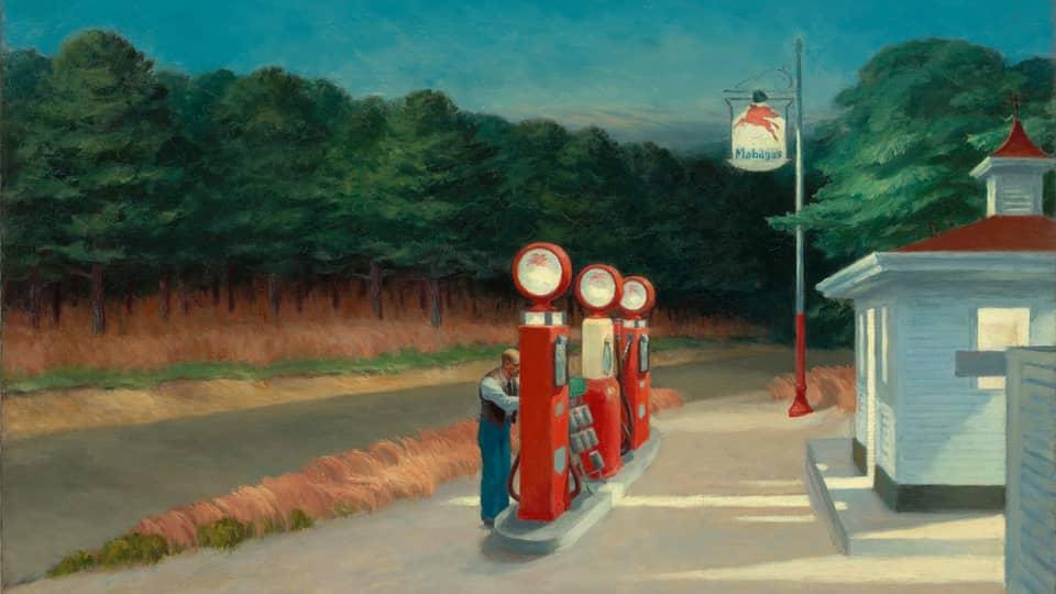 """""""Gas"""" von Edward Hopper"""